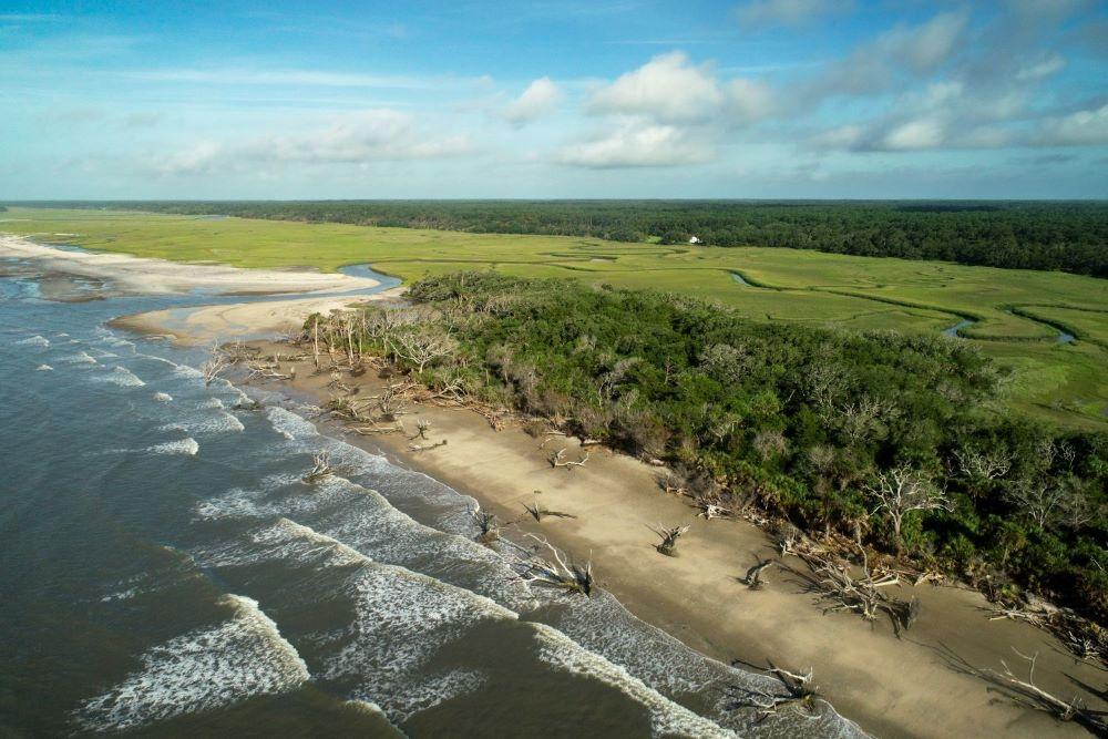 North Edisto Estuary, Edisto, SC. Photo by Shellfish Research Section/SCDNR