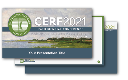 CERF 2021 PowerPoint Template Cover